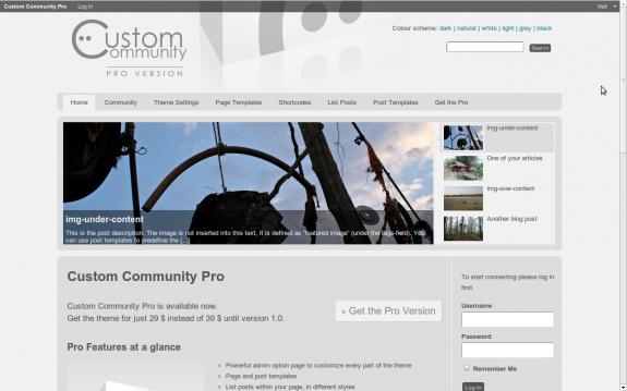 Buddypress Theme: Custom Community Pro - Home