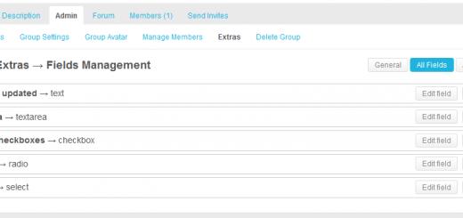 BPGE: страница управления мета-полями