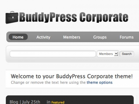 BuddyPress Corporate Theme