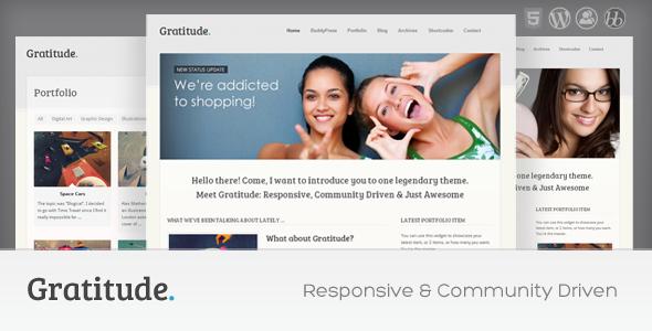 Gratitude: BuddyPress & Responsive WordPress