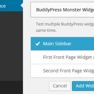 BuddyPress Monster Widget