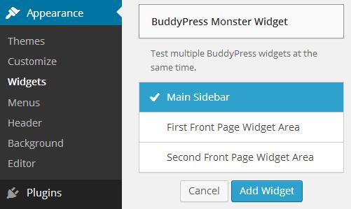 BuddyPress Monster Widget