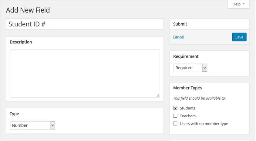 BuddyPress 2.4 - поля профиля для типов пользователей