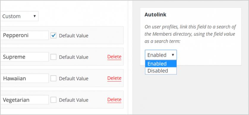 BuddyPress 2.5 - Автолинковка полей профиля