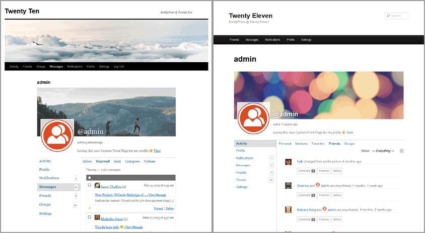 BuddyPress 2.6 - улучшенная поддержка тем 2011 и 2010