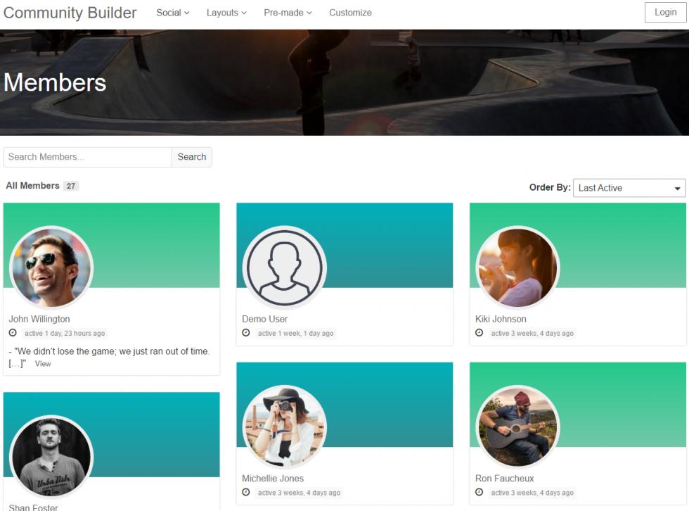 Community Builder - Пользователи